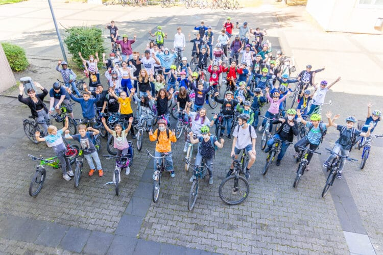 Es sind viele, und sie haben einen Ruf zu verteidigen: Das RSG ist 2021 mit viel Elan in die Stadtradel-Wochen gegangen. (Fotos: Wir in Dortmund)