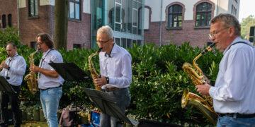 """Das """"Mengeder Saxophonquartett"""" mit Dr. Ingo Leipelt, Tomas Miehlke, Matthias Laske und Kai Neuvians (v. l.); (Fotos: Wir in Dortmund)"""