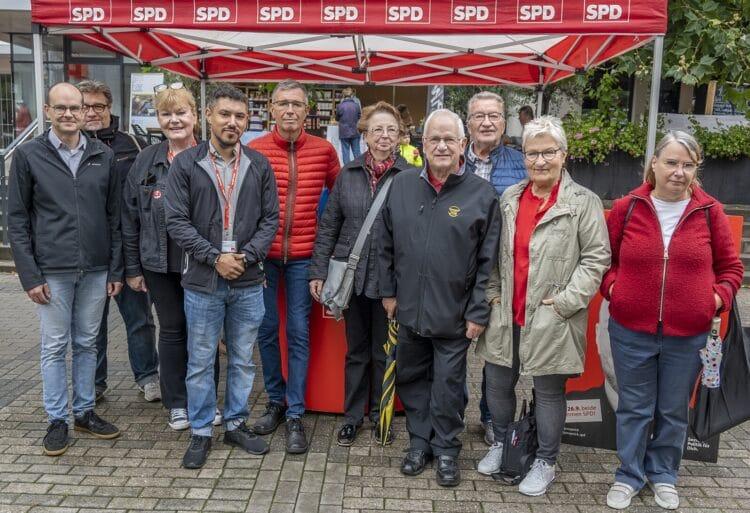 Der neue Vorstand (Foto: SPD OV Bittermark/Lücklemberg)