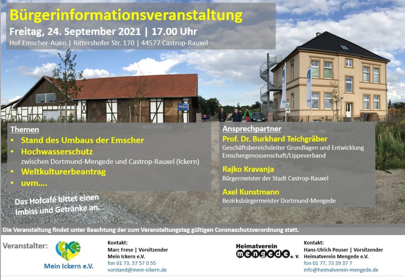 Wie geht es mit dem Emscherumbau weiter? – Einladung zur Bürgerinformationsveranstaltung
