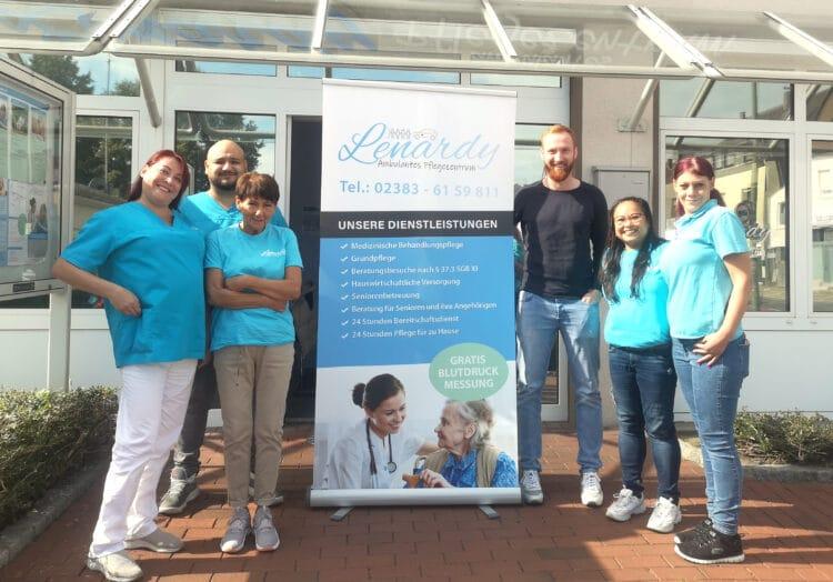 Das Team vom Pflegedienst Lenardy freut sich auf Aplerbeck. (Foto: Lenardy)