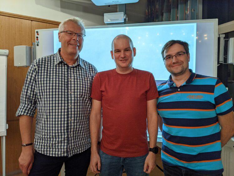 Der Vorstand (v. l.) Hoger Meyer, Georg Brzyk und Daniel Kiliszek (Foto: Verein)