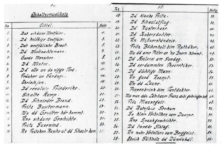"""38 unbekannte """"Plattdütsche Vertellkes van Willm Barth"""" aus Stockum werden vorgestellt. © privat"""