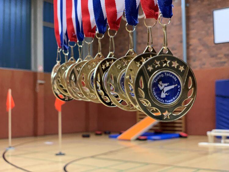 Die Young Talents Medaillen des Vereins Taekwondo Team Kocer e. V. (Foto: Verein)