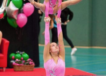 Luzi Grauper in ihrer aktiven Zeit als Akrobatin. (Foto: Verein)