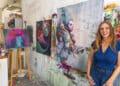 Beate Bach arbeitet als Vermieterin selbst als Künstlerin in ihrem Atelier. (Fotos: Wir in Dortmund)