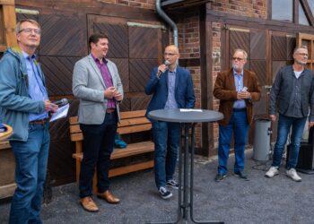 Sie standen für Fragen zur Verfügung: (v. l.) Prof. Burkhard Teichgräber, Rajko Kravanja, Marc Frese, Hans-Ulrich Peuser und Axel Kunstmann. (Fotos: Wir in Dortmund)