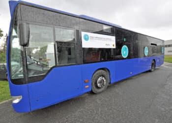 Fährt auch bei schlechtem (Winter-)Wetter: der Impfbus in Dortmund (Foto: Dortmund-Agentur/Anja Kador)